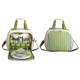 Picnic cooler bag 4 persons/ stripes