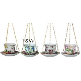 Tea cup with saucer assorted decor
