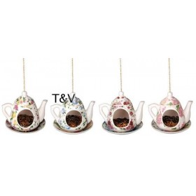 Teapot feeder assorted decor