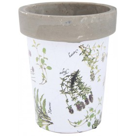 Long tom flowerpot - Herbs print