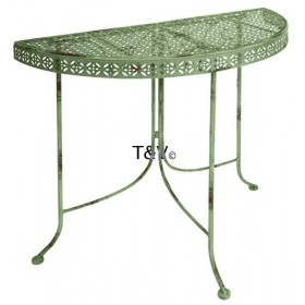 Industrial Heritage half round table/side table