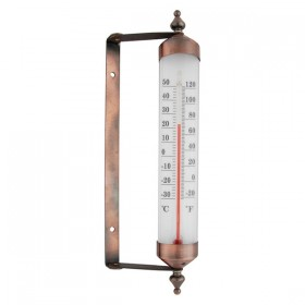 Turnable window frame thermometer