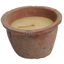 Esschert Design Aged Terracotta pot with candle S | Trends & Vision