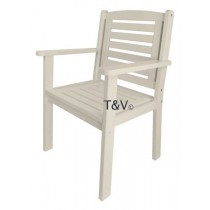 Esschert Design Chair with arms white | Trends & Vision