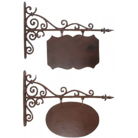 Sign board rectangular or oval large