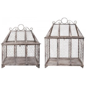 Wire Conservatory assorted S/L - Aged Metal