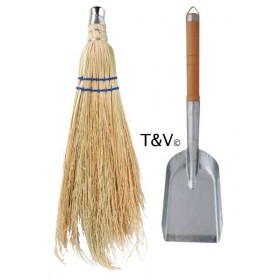 Fire place shovel and brush